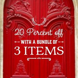 Bundle 3 items and get 20% off